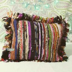 We love this fun and whimsical pillow for any living space. Crazy pillow is boho-inspired. Soft pillow with magical fringe detailing along the seams.This crazy hand woven decorative Pillow is Perfect for stylish and Accent Home Decor. Hand woven from vintage sari makes this Cushion Cover Beautiful and looks perfect on bed, Sofa, couch and bed Room. Soft and comfy outdoor Indian Pillow cover is Hand crafted, softly stitched by artisans in India using traditional methods. This reversible…
