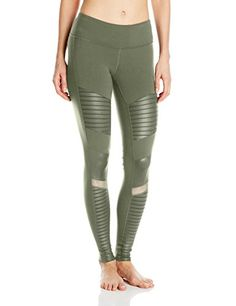 Women's Athletic Leggings - Alo Yoga Womens Moto Legging ** Learn more by visiting the image link.