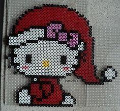Hello Kitty Christmas- hama perler beads