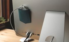 Turn the Back of Your Monitor Into a Workspace Utility Belt