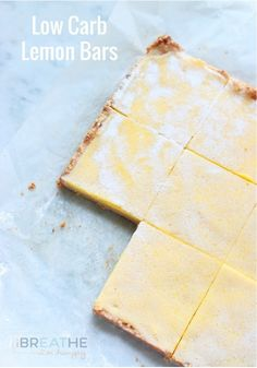 A low carb, keto, and gluten free lemon bars recipe from I Breathe Im Hungry