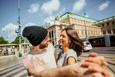 Austria, Vienna, happy young couple dancing Viennese waltz in front of state opera Types Of Ballroom Dances, Ballroom Dancing, Young Couples, Vienna, Austria, Image Search, Opera, Couple Photos, Happy
