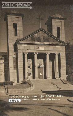 Maria do Resguardo fotos antigas e raras de Juiz de Fora: Igreja de São Mateus, Bairro e Rua São Mateus em 1946 (arquivo de Sonia Pinto Coelho ).