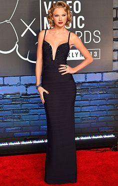 Tayor Swift in Herve Leger,  At 2013 MTV Video Music Awards | MTV Style
