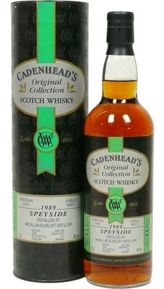 The firm of William Cadenhead Ltd, Wine and Spirit Merchants, was founded in 1842 and is Scotland's oldest independent bottler. The company was was in the ownership of the same family until taken over by J & A Mitchell & Co.Ltd in 1972, the proprietors of Springbank distillery. The Macallan distillery is a single malt Scotch whisky distillery in... #cadenheads #macallan #macallanglenlivet