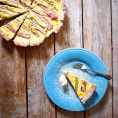 Laskominy od Maryny: Krémový rebarborový koláč