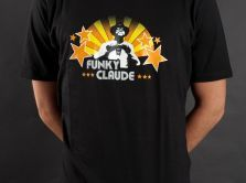 "T-Shirt ""Funky Claude"" - black or white"