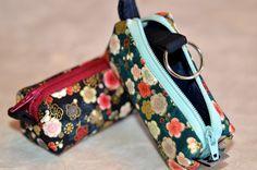 #Schlüsseletui KAGI aus #japanischen Stoffen, genäht von NORIKO handmade, #Schlüsselanhänger, #Japan, #Design