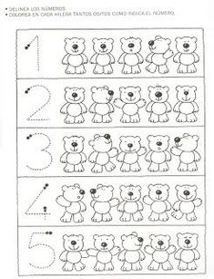 Crafts,Actvities and Worksheets for Preschool,Toddler and Kindergarten.Lots of worksheets and coloring pages. Numbers Preschool, Math Numbers, Preschool Learning, Kindergarten Worksheets, Worksheets For Kids, Preschool Activities, Teaching, Math For Kids, Math Lessons