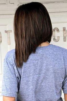 Dramatic, Medium Length Inverted Bob Haircut