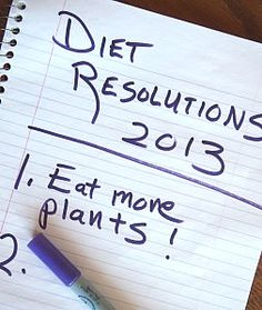 Food Resolutions for the New Year