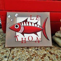 """""""le thon"""" tableau décoratif"""