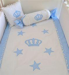 Kral Tacı Bebek Yatak Örtüsü Takımı | Nevresim Takımı | Sonsuz Dekorasyon