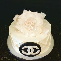 Chanel themed Happy Birthday Cake