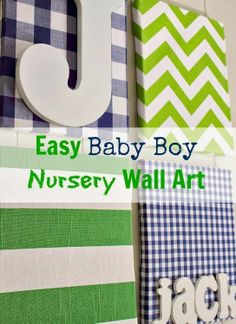 A simple wall art project, perfect for a nursery or a kid