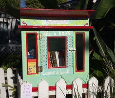 Our Little Free Library is up!