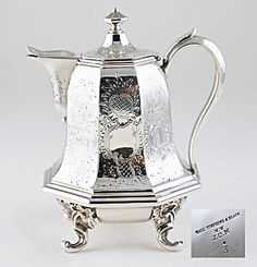 sterling teapot, 1845