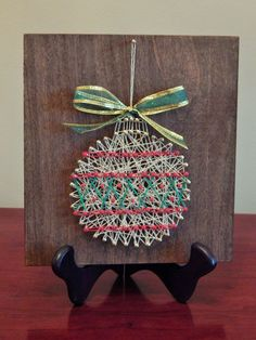 "nice Gold Ornament String Art- 7 1/4""x 7 7/8"""