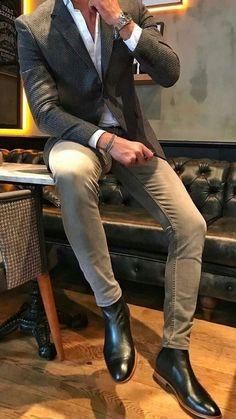 Nya handgjorda män & # s Chelsea Black Leather Boots Men Black Leather Boots … – Christian - Nice Mens Biker Boots, Ankle Boots Men, Black Leather Ankle Boots, Motorcycle Boots, Men's Boots, Snow Boots, Leather Men, Soft Leather, Outfit Elegantes