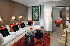 Couture Suite Living Room  at Mandarin Oriental, Paris