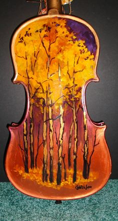 Daily Painters Of Colorado: The Painted Violin