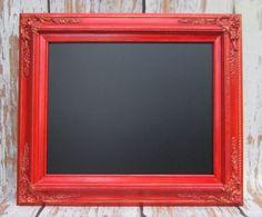 Chalkboard, add magnets and put on fridge