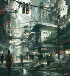 Steampunk concept art illustration 65 New Ideas Cyberpunk City, Ville Cyberpunk, Arte Cyberpunk, Cyberpunk Anime, Environment Concept, Environment Design, City Art, Art Internet, Berg Illustration
