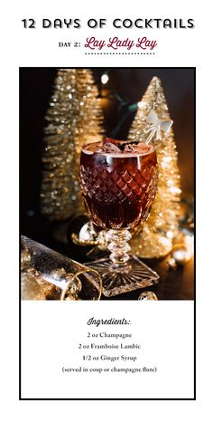 Holiday Cocktail recipe by Please and Thanks You | Photo by Plum and Oak Photography
