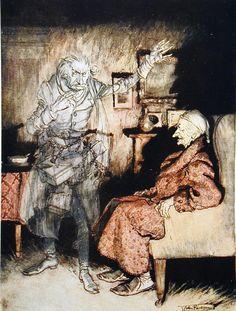 A Christmas Carol; ill. by Arthur Rackham. London: W. Heinemann; Philadelphia: J.B. Lippincott, 1915.