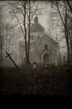 Creepy old  church in Sleepy Hollow