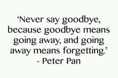 Even if it's only for a few days, I hate to say goodbye. But I love saying it all night long. :)