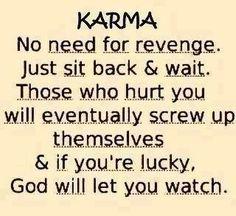 Karma - No need for revenge