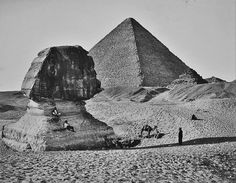 The Great Pyramids of Giza and the Sphinx, circa 1862 [edit]