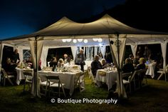 The Dream Maker New Zealand Destination Weddings and Events- Beautiful night time styling.