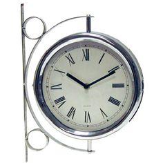 Reloj Estación 2 caras cromado