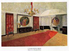 "Color Scheme Print - 1923 - """"BERLIN - SKETCH FOR A RECEPTION ROOM"""" - Decorative Lithograph"
