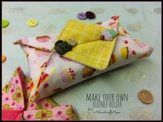 Tissue holder - YouTube Sewing Hacks, Sewing Tutorials, Sewing Crafts, Sewing Projects, Sewing Lessons, Tissue Box Covers, Tissue Boxes, Tissue Holders, Sewing To Sell