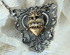Image result for sacred heart with angel wings art