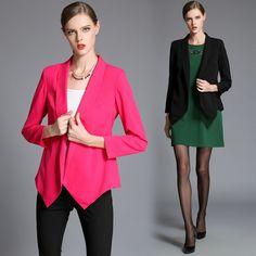 fc75b1a9cb555 Zhirun Plus Size Fashion 3 4 Sleeve Blazer For Women
