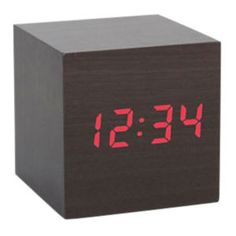 Sleeping spies don't need lights shining in their eyes. This modern, aesthetically pleasing little box is actually an undercover alarm clock that shows the time in red LED lights when you clap your hands. Keep it on your cocktail table and surprise visiting spies. Take your time on a mission — clock fits comfortably in the palm of your hand. (The trick would be to hold it in your hand while clapping it on!)