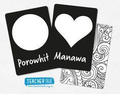 HIgh Contrast Flash Cards for infants Learning the shapes in the reo Maori