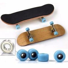 fafbe7a02ca  3.23 AUD - Full Set Wooden Fingerboard Finger Skate Board Grit Box Foam  Tape Maple Wood