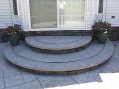 rounded stoop stamped concrete - Google Search