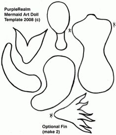 mermaid paper doll template and inspiration