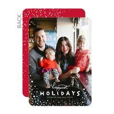 Speckled Vignette Premium Holiday Cards