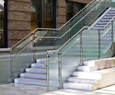 Do you want immediate solutions for you commercial glass repair in Washington DC? Washington DC Glass repair provide finest services with sensible cost. Steel Railing Design, Modern Stair Railing, Staircase Handrail, Modern Stairs, Staircase Design, Glass Railing, Stair Design, Staircase Ideas, Stainless Steel Stair Railing
