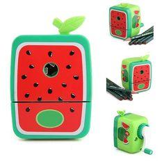 SODIAL(R) Watermelon Pencil Sharpener Hand Crank Manual Desktop School Stationery Kids