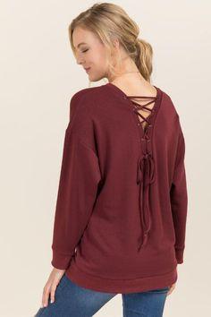 Rylee Lattice Back Sweatshirt