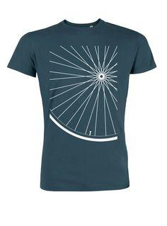 4fe63088b9c921 Organic T-shirt petrol wheel rim bicycle silkscreen fair wear gift for  him MIA Cartoleria