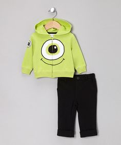 Take a look at this Green Monsters, Inc. Zip-Up Hoodie & Black Pants by Disney on #zulily today!